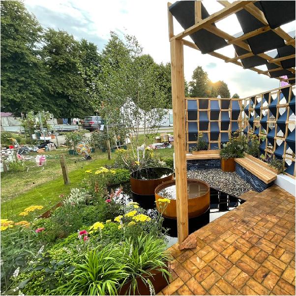 Decking & garden lighting installed by OTG